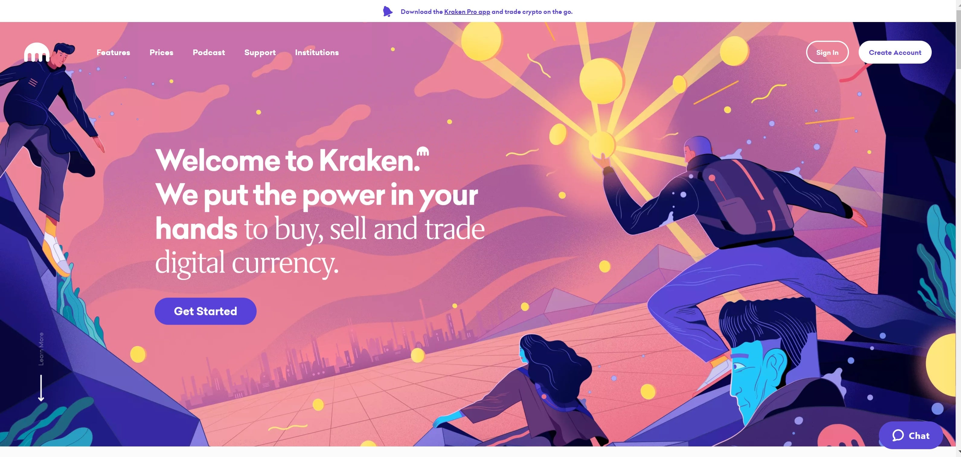 Site Web de Kraken