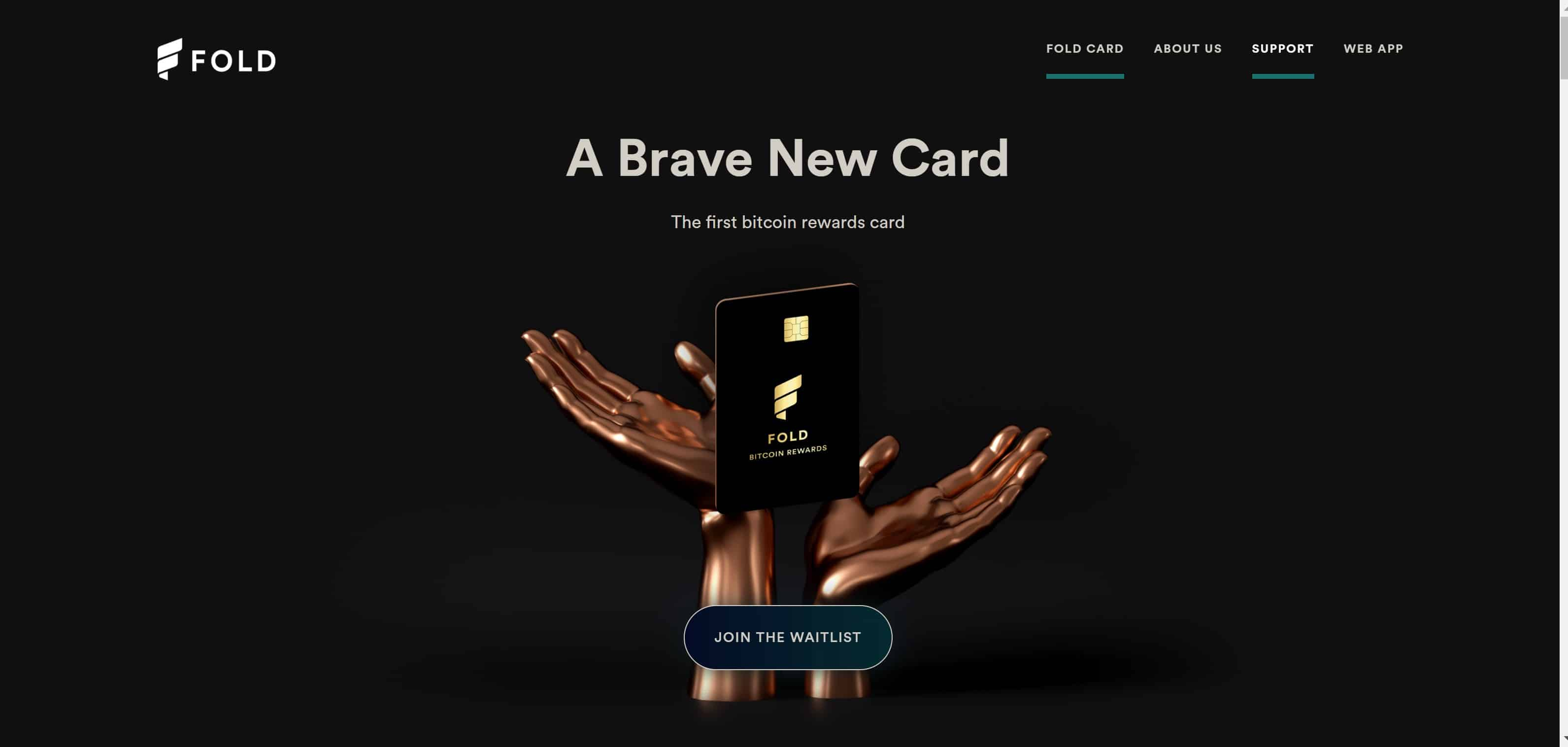 Carte Visa Fold Card