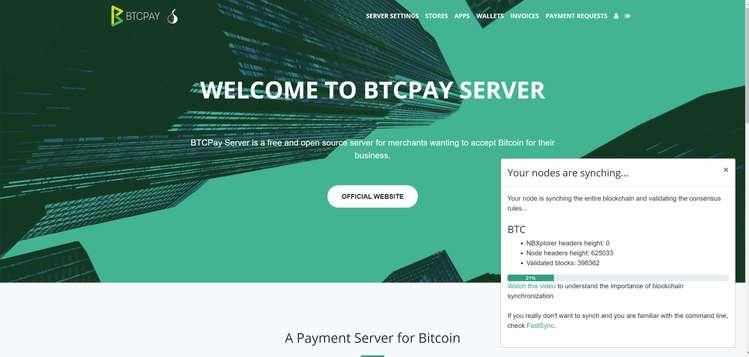 Serveur BTC Pay