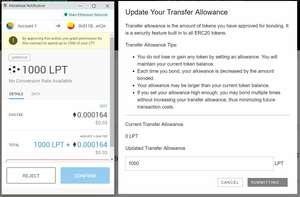 Livepeer Confirm Transfer Allowance
