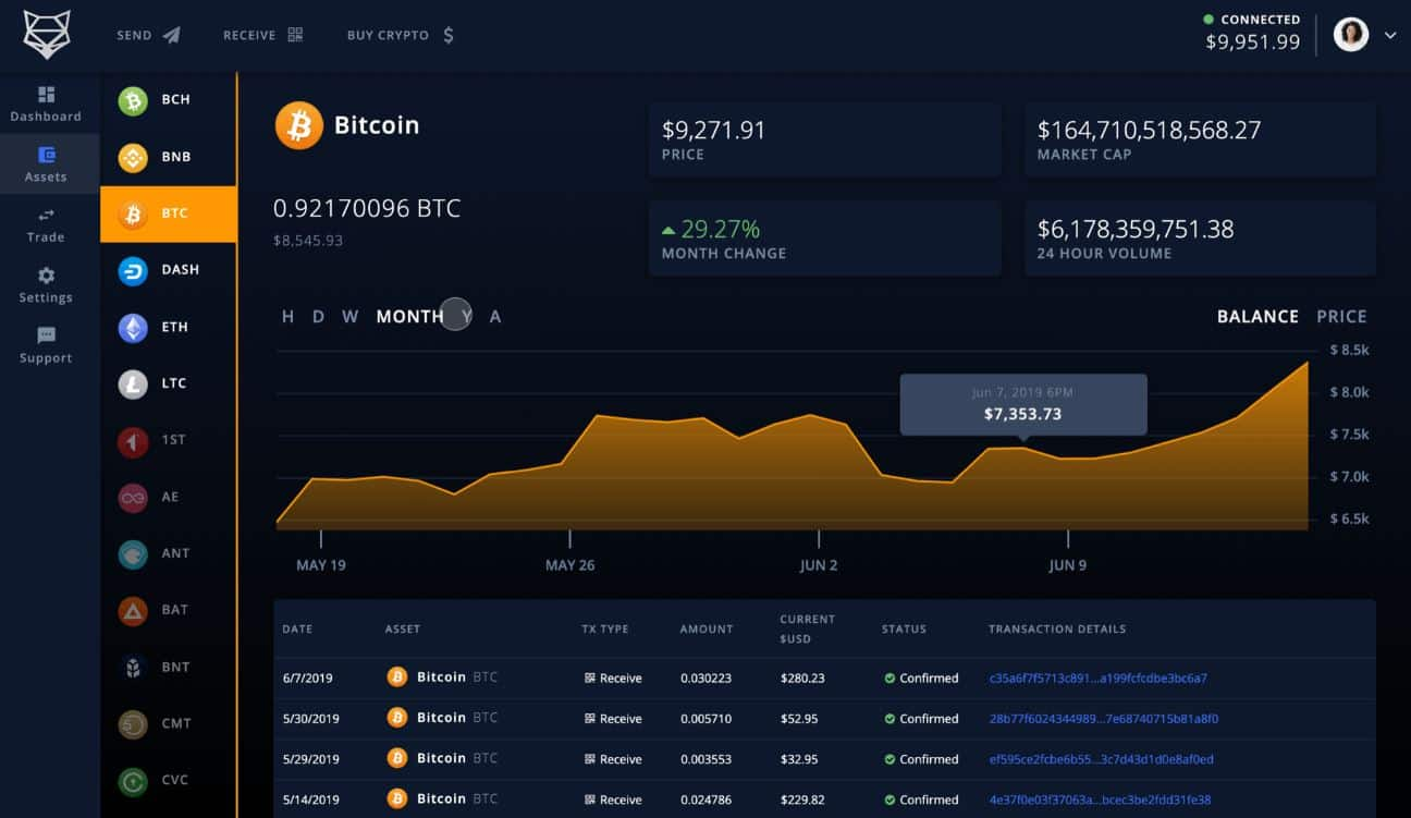 ShapeShift Cryptocurrency Manager