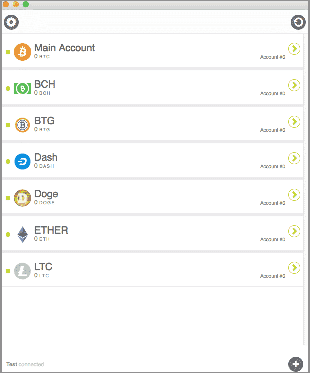 Select crypto to send from KeepKey