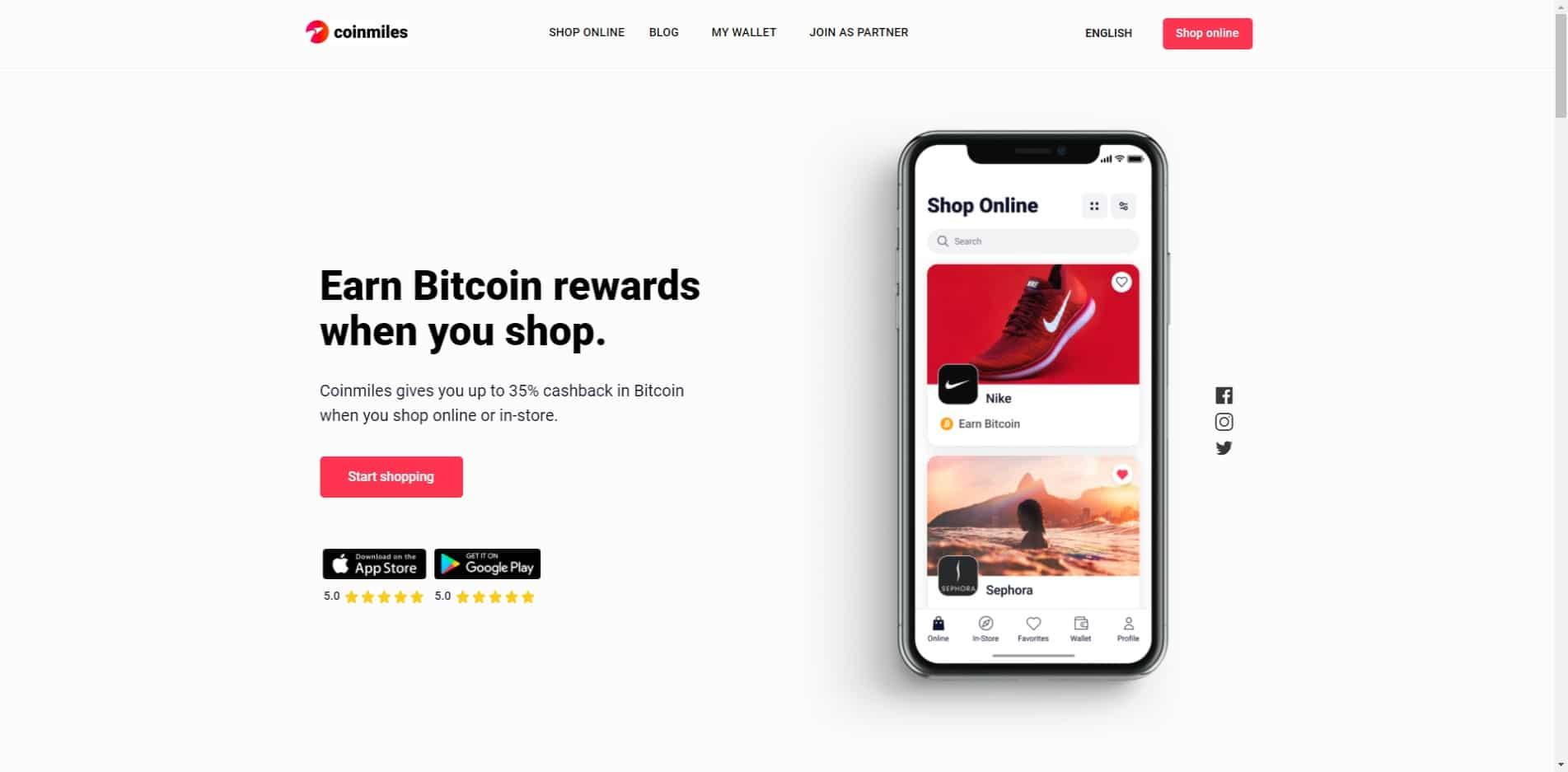 Coinmiles.io Homepage