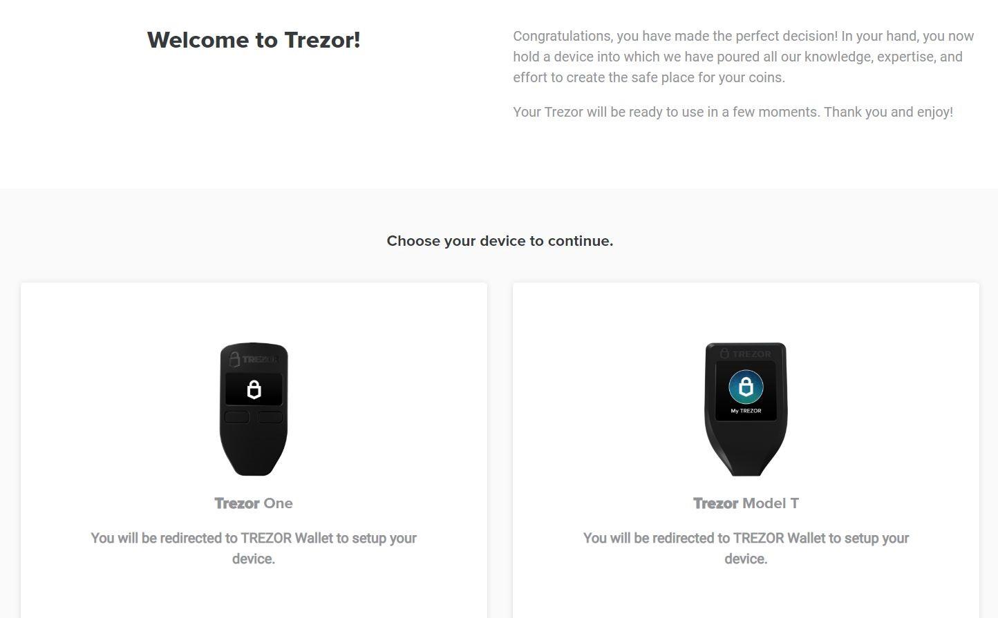 Trezor Website