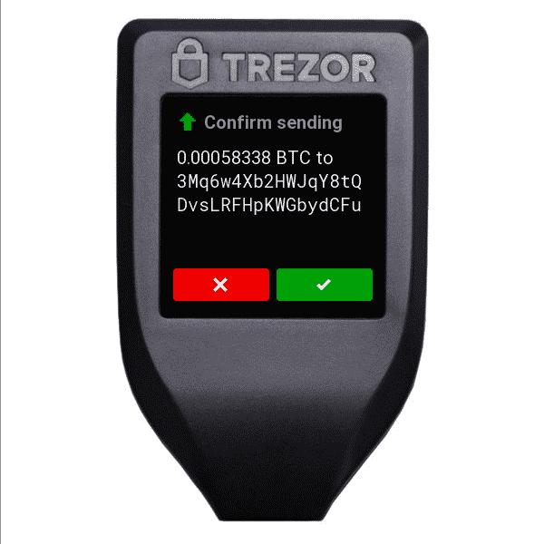 Trezor Model T Confirm Transaction