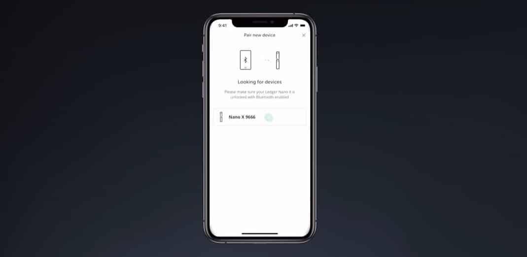 Ledger Live App Bluetooth
